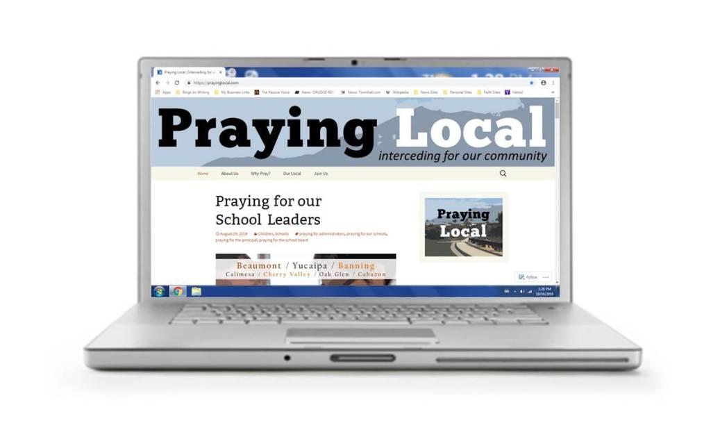 Praying Local website