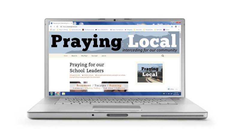 Praying Local website