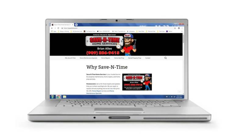 Save-N-Time Home Services website by New Wind