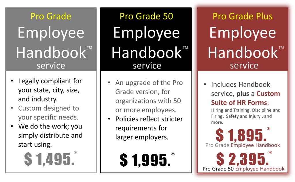 Employee Handbook pricing by New Wind